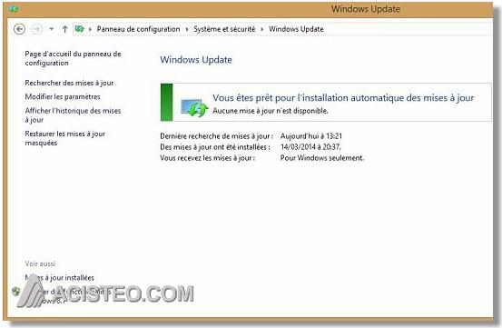 mise à jour windows 8